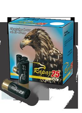 Cartucho caza modelo Rapaz 25